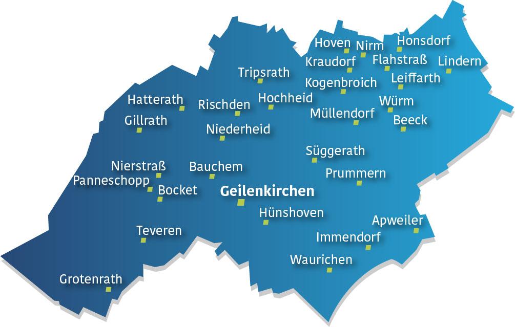 Karte Stadt Geilenkirchen